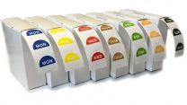 Set of 7 Rolls - Day Dot Food Stickers - Catering Labels